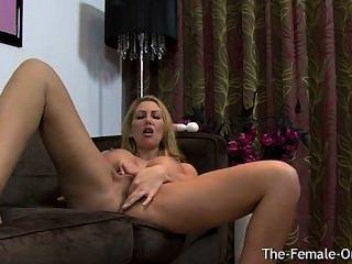 Slutty sammi pantyhose dildo masturbation show tmb