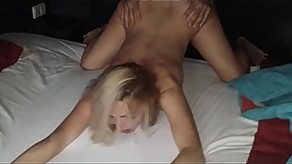 Slut cheating wife caught fucking her lover on the beach