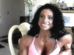 Oiled female muscle wildkat solo