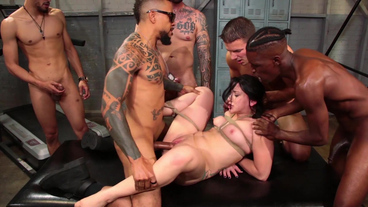 Skinny pig rides massive black dong mandingo big cock dick abuse