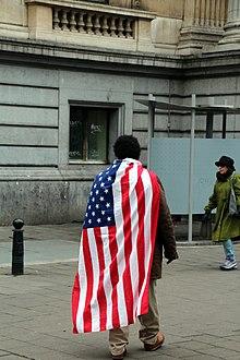 Bondage cartoon miss american flag