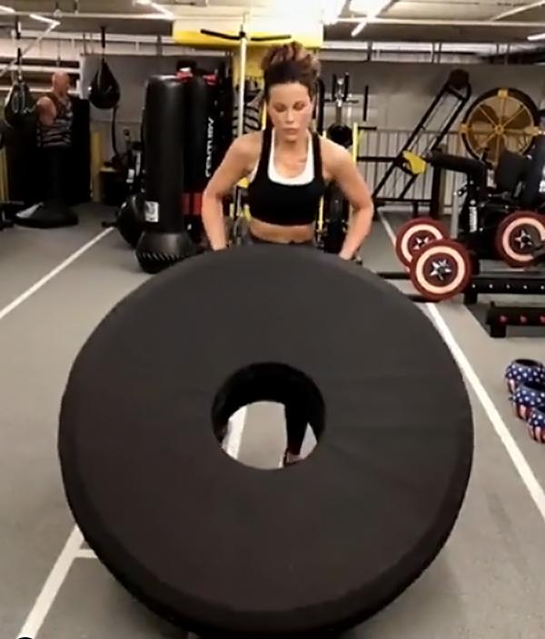 Aubrey kate a good workout