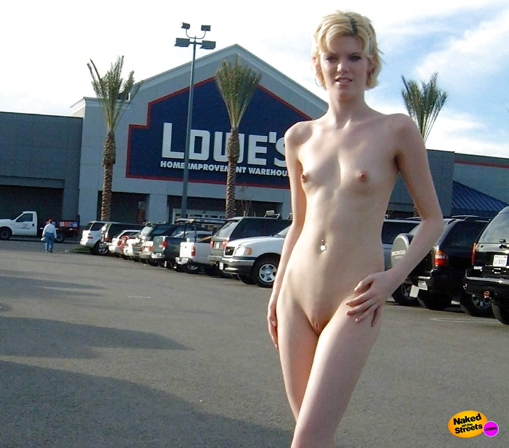 Nude in parking lot
