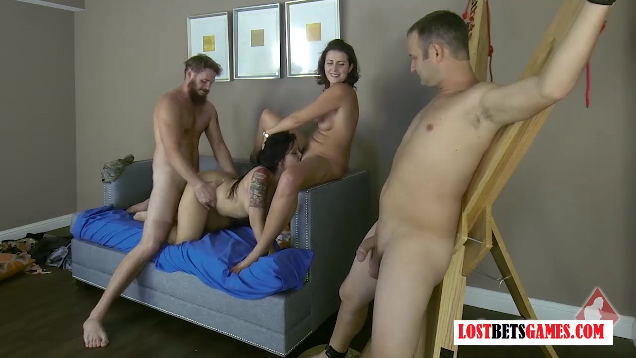 Wife loses bet orgy