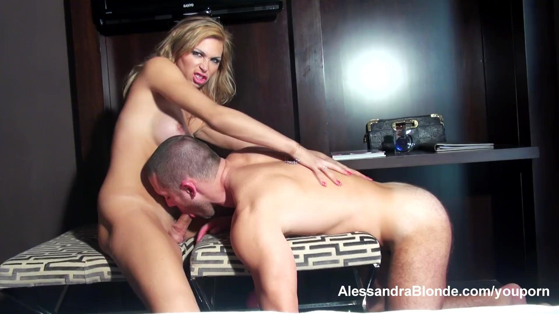 Alessandra blonde shemale pornstar model