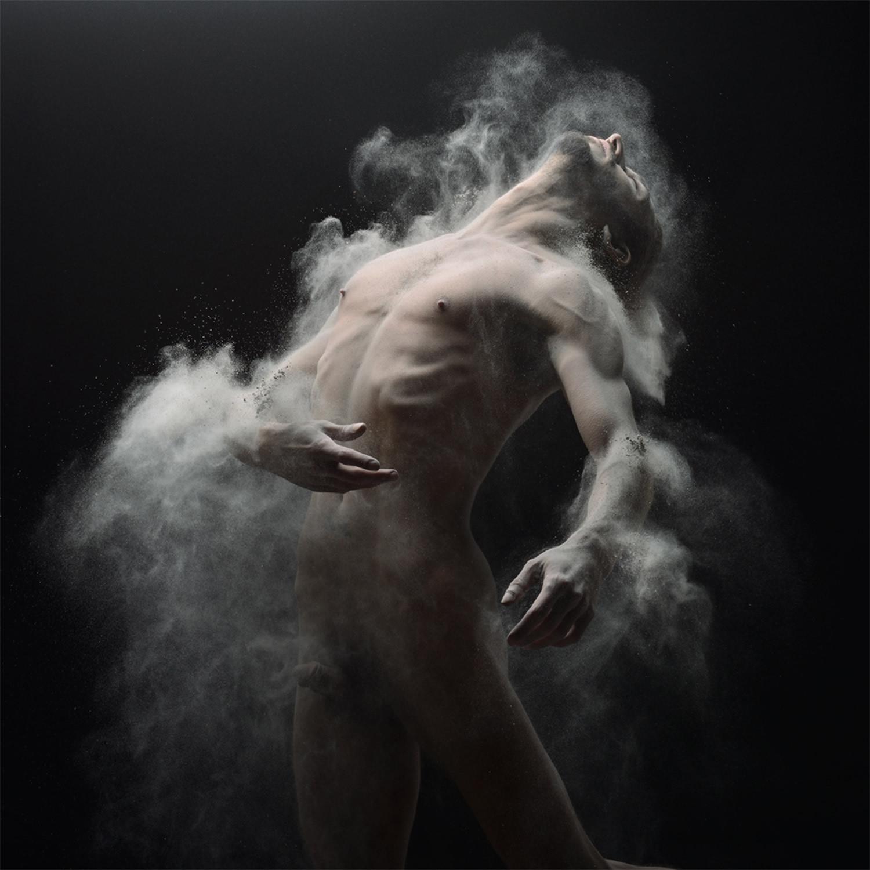 Fine art male nude with wallpaper nude men