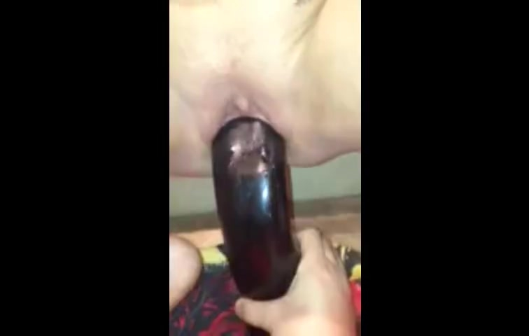 Wife big black dildo