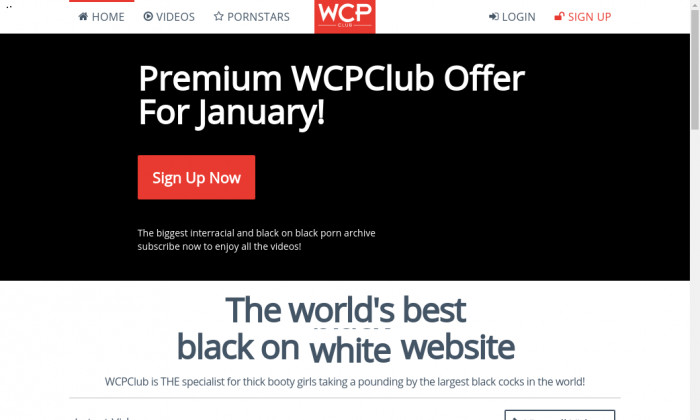 Wcpclub the all black and interracial porn website