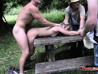 Couple caught fucking in woods wife gangbanged