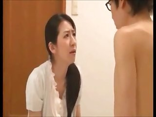 Asian nasty son forced his mother for sex when she