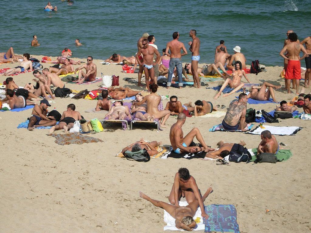 Nude sex beach video