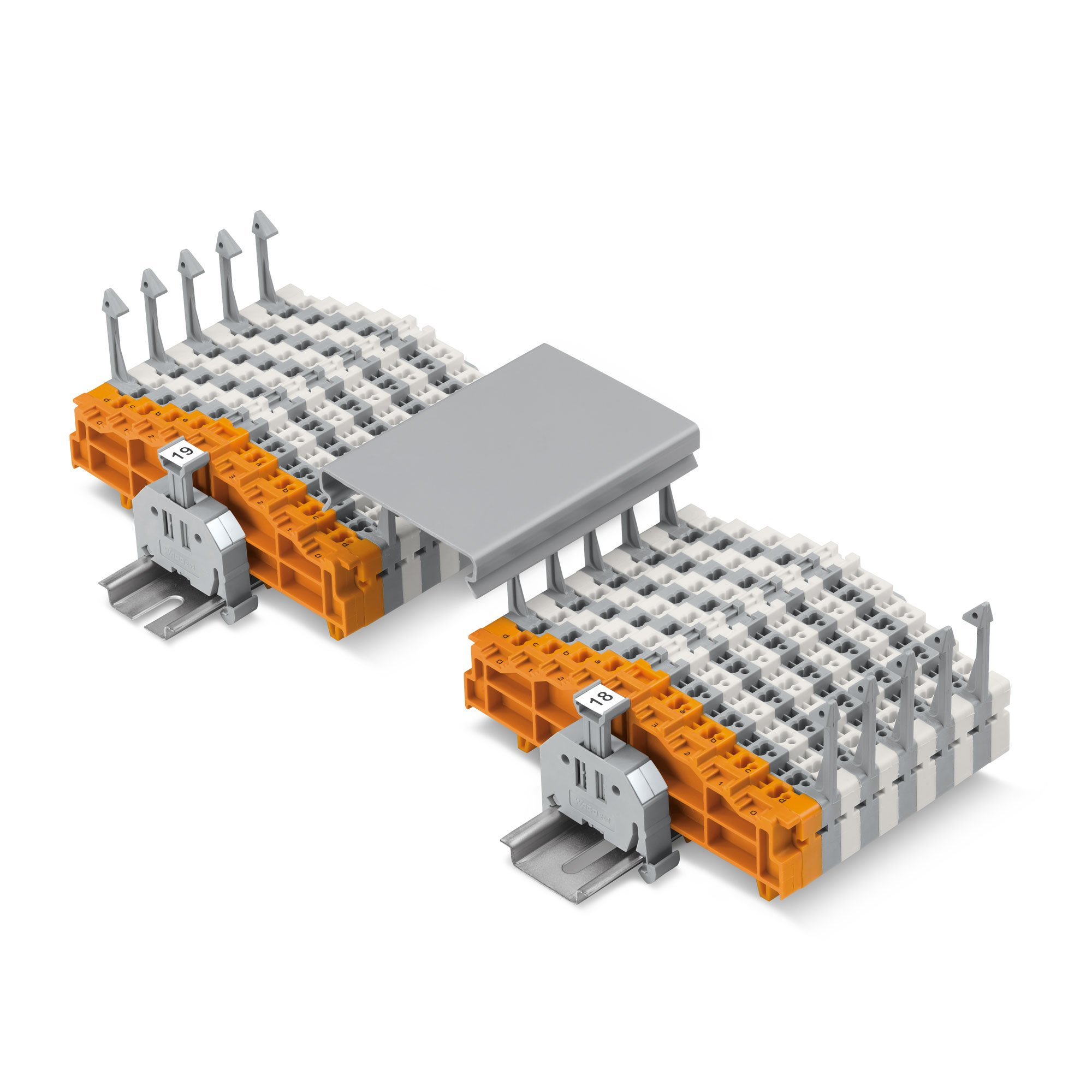 Continuous strip terminal block