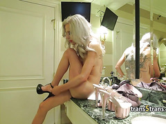 Crossdressing husband caught with shemale free sex videos