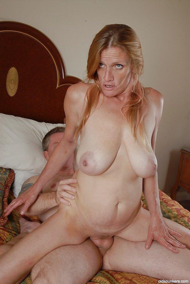 Huge saggy tits fucking