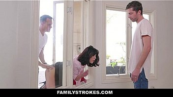 Familystrokes stuck milf fucked both step sons