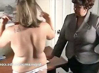 Mature lesbian ladies fingering in girdle fitter seducing