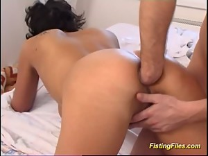 Extreme rough anal fisting lession