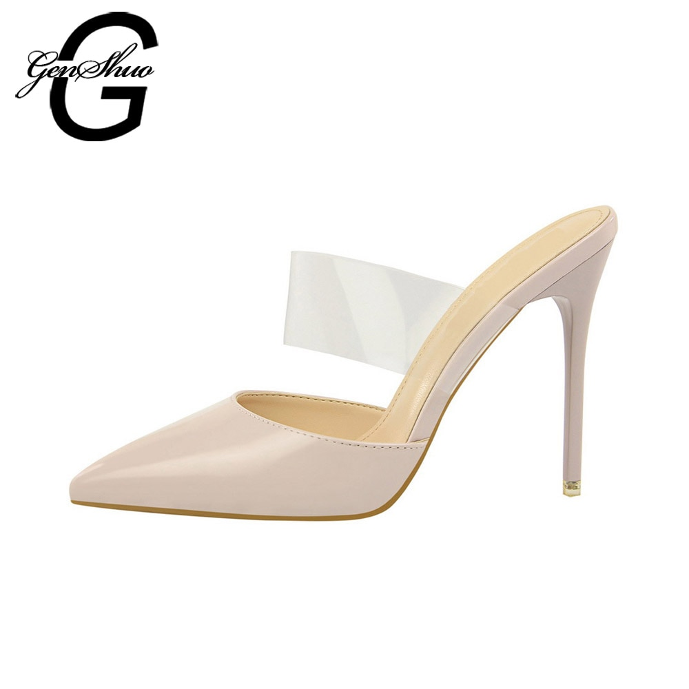 Female party black nude shoes woman ladies