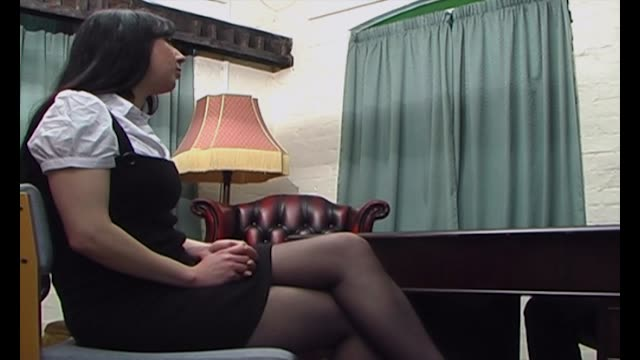 Girl in pantyhose caned tmb