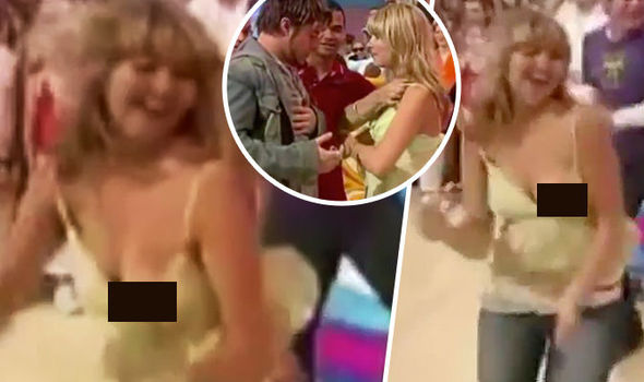 Holly willoughby boob flash