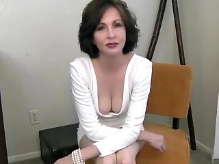Hot milf with huge tits strokes an old cock tmb