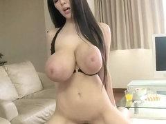 Natural big breasted hitomi tanaka at the beach in bikini
